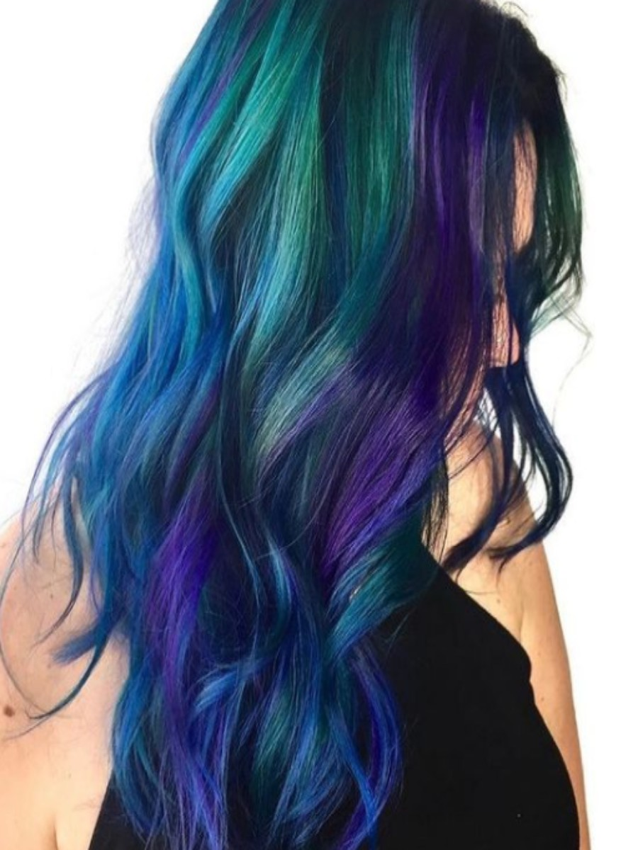 Hair Colouring Bright Colours Orange Lily Hair and Body Studio Fort Mac McMurray Alberta